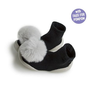 Pom-Pom Carbon Slipper Sock