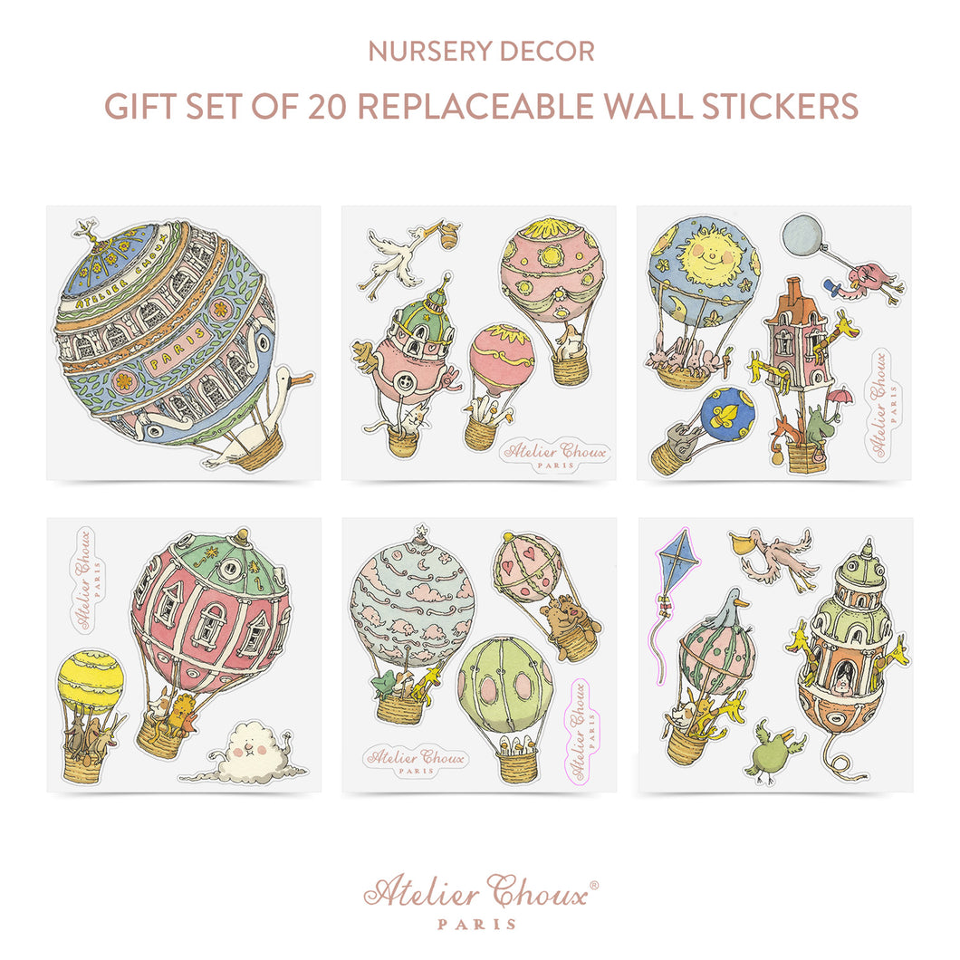 Replaceable Wall Stickers (20 Set)