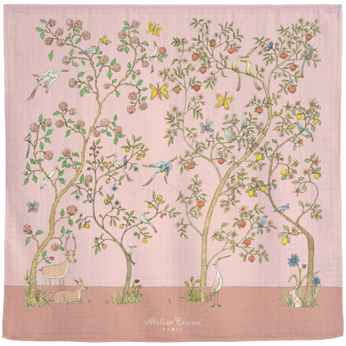 Carré Chinoiserie Pink