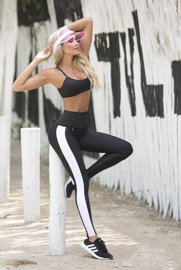 Leggings black unicolor white