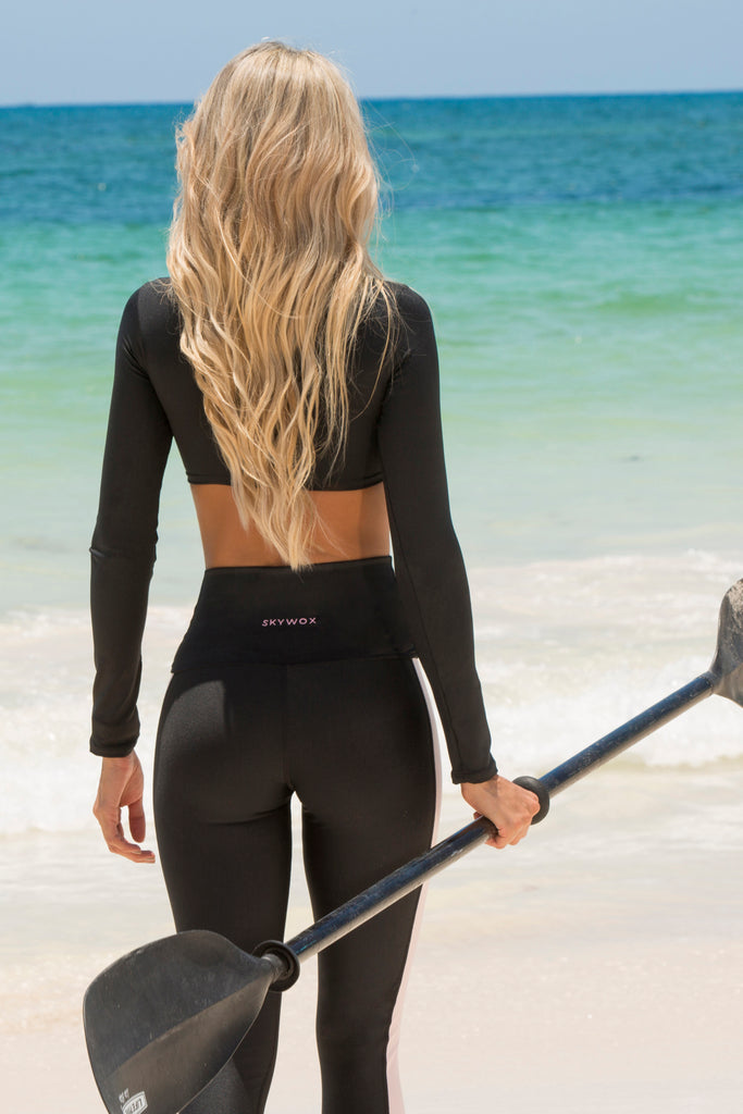 Black Long Sleeve Atlantis Top