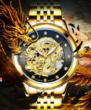 Top Brand Luminous 3D Dragon Automatic Self-Winding waterproof watch
