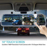Latest Full-Screen LCD Rearview Mirror, Front And Rear Car Recorder-Limit discounts 50% off