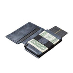 Large capacity leather pop-up card package / wallet