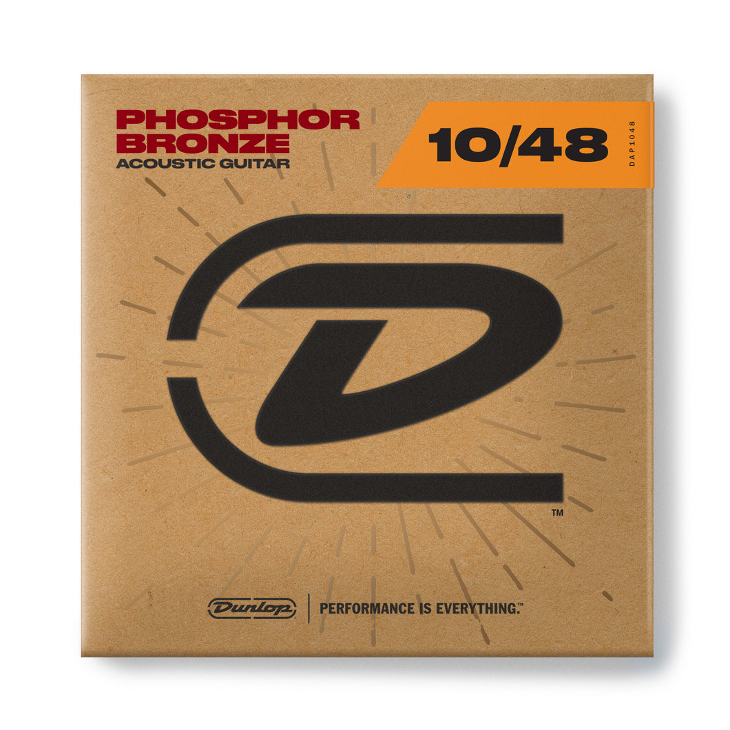 DUNLOP ACOUSTIC PHOS BRONZE GUITAR STRINGS 10-48