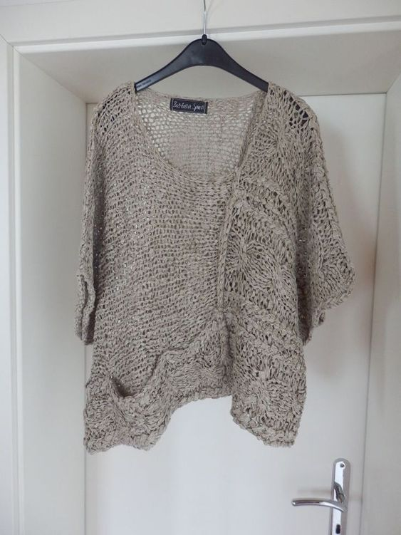 Gray Knitted Long Sleeve Round Neck Shirts & Tops