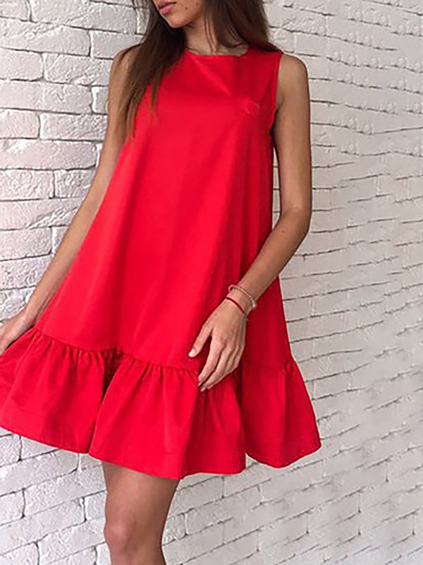 Shift Women Daily Sleeveless Basic Solid Summer Dress