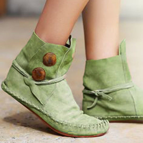 New Style Round Toe Flat Heel Comfortable Lightweight Boots