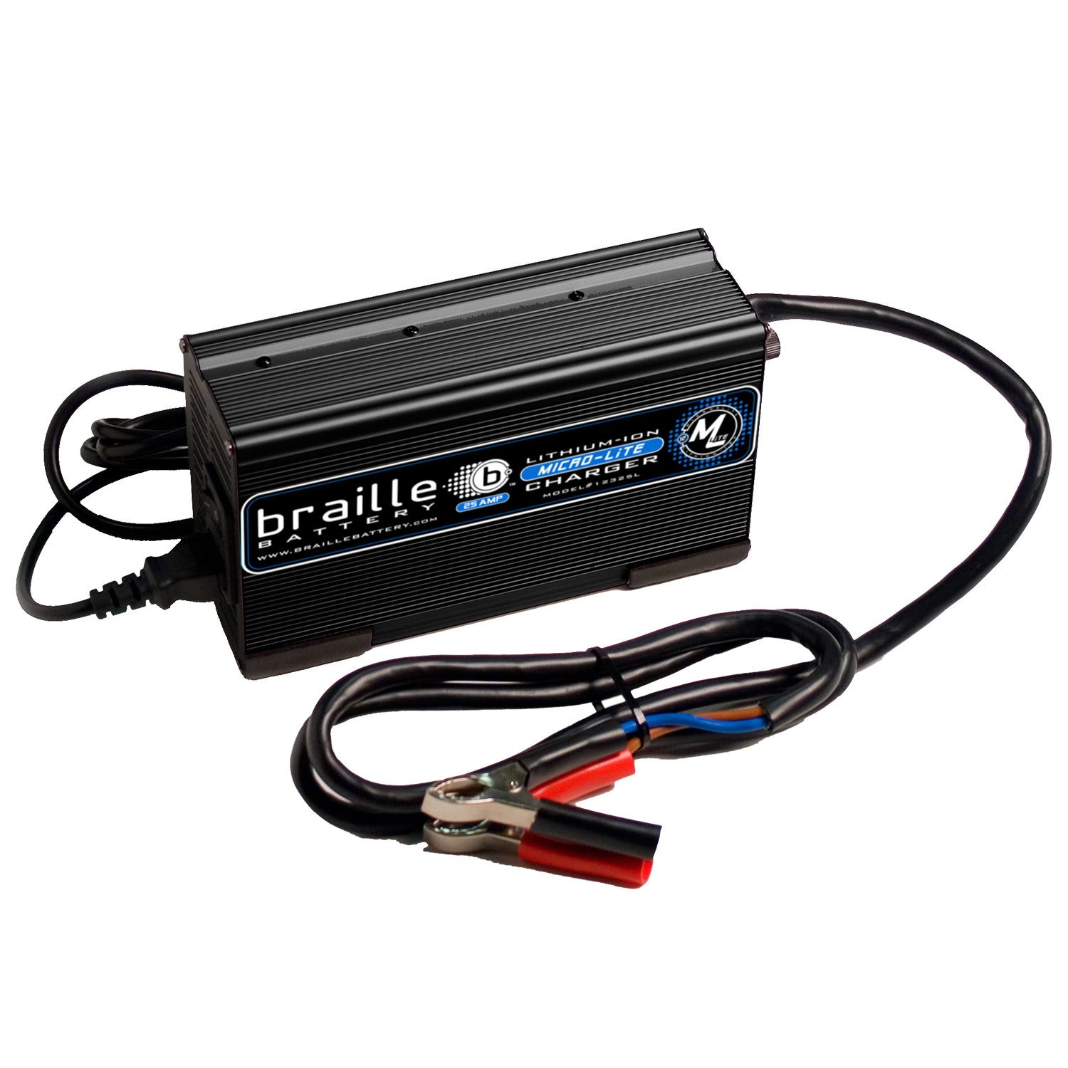 12325L - Braille 12 volt 25 amp lithium rapid charger