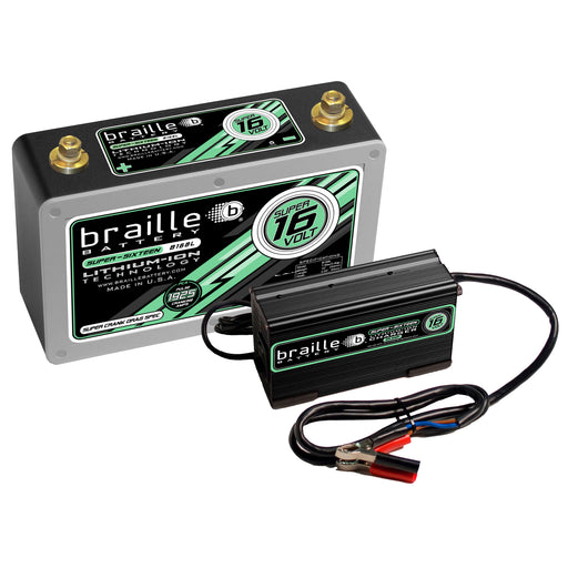 "B168LC  - Super 16 Volt ""Drag Race Spec"" lithium battery & 25 amp rapid charger combo"