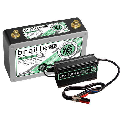 "B169LC - Super 16 Volt ""Circle Track Spec"" lithium battery & 6 amp charger combo"
