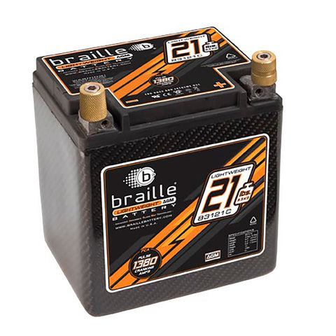 B3121C - Carbon Lightweight AGM battery (BACK ORDERED UNTIL 07/15/2021)