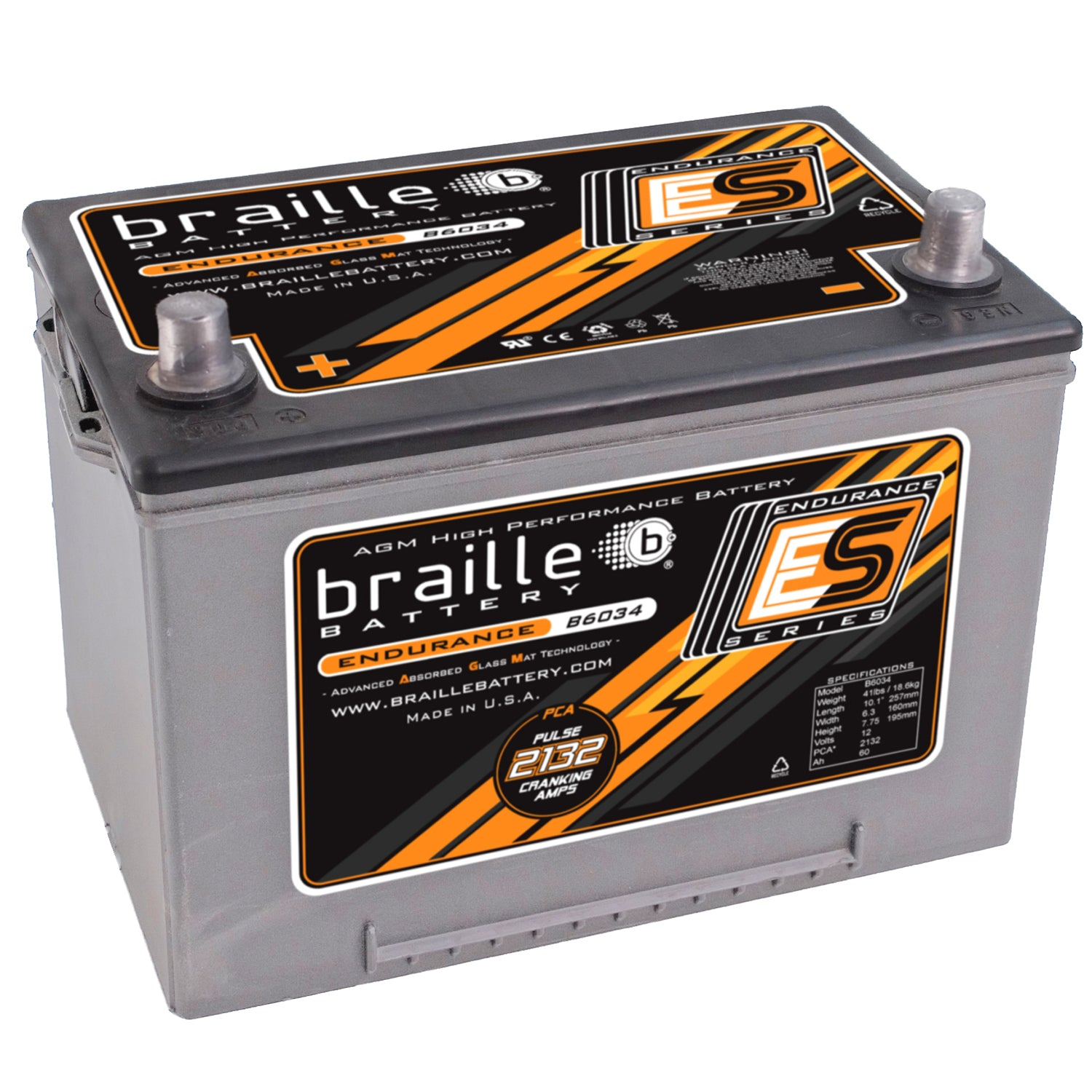 B6034 - Endurance AGM battery