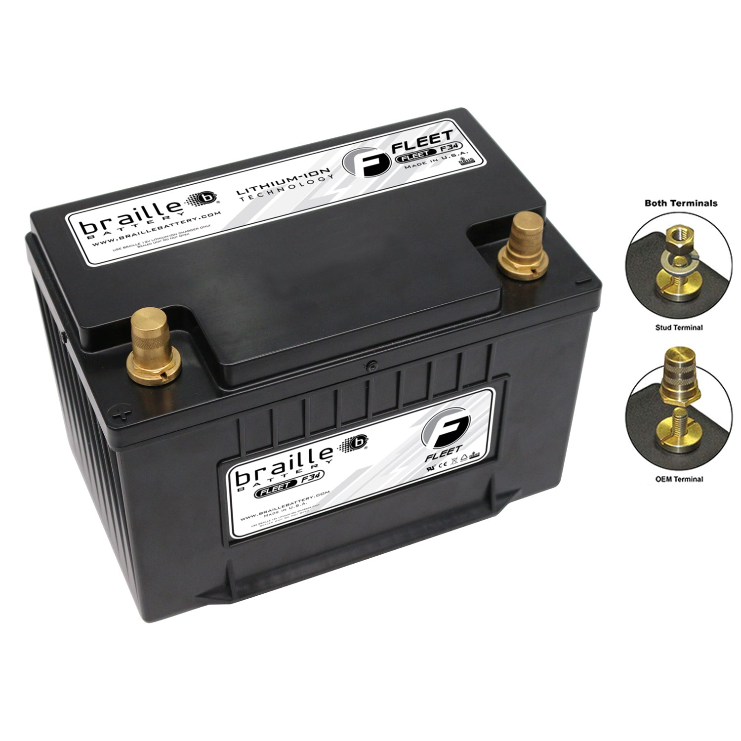 F34 - Fleet-Lite Lithium (Group 34) Starting/Power Supply battery