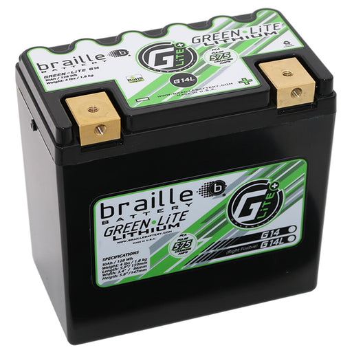 G14L - GreenLite Powersports Lithium Battery (Right Positive)