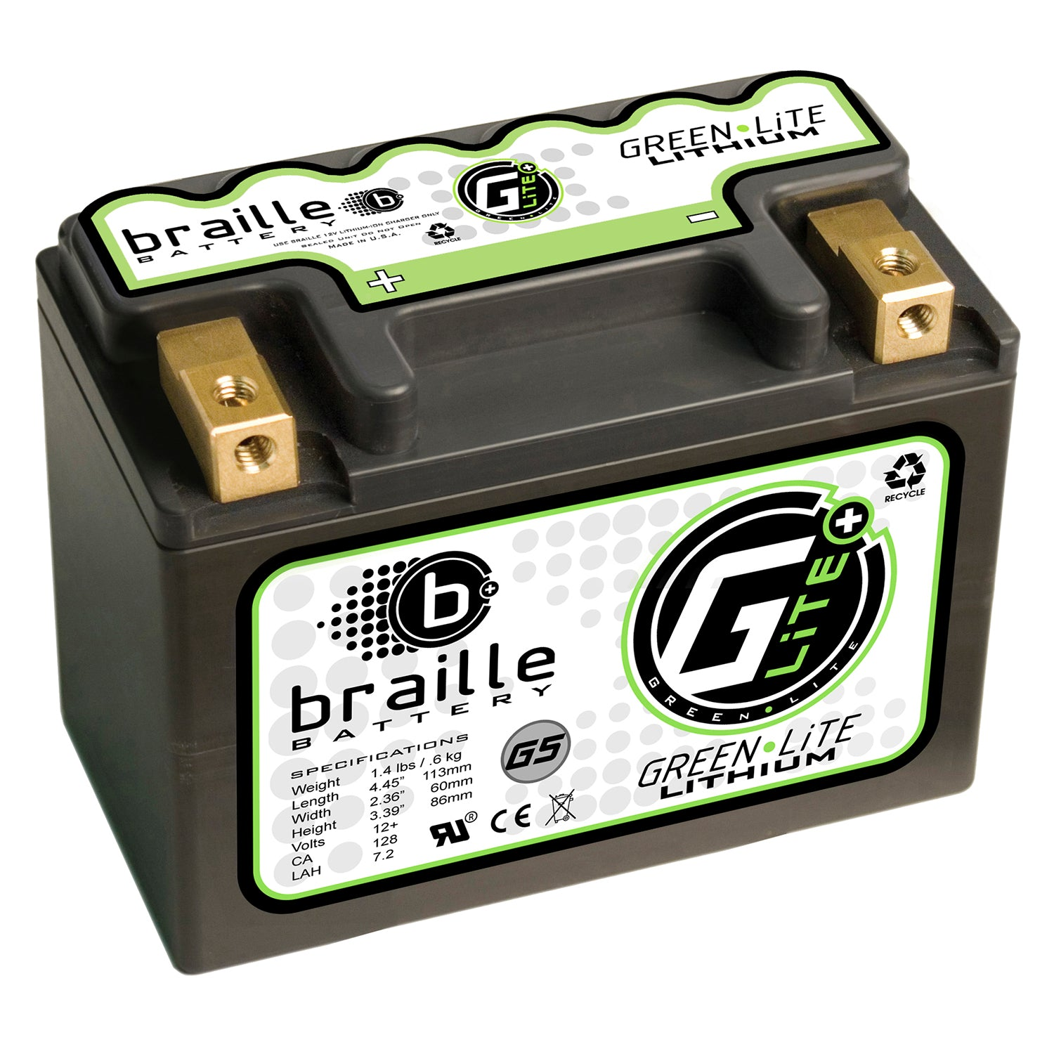 G5S - GreenLite lithium battery