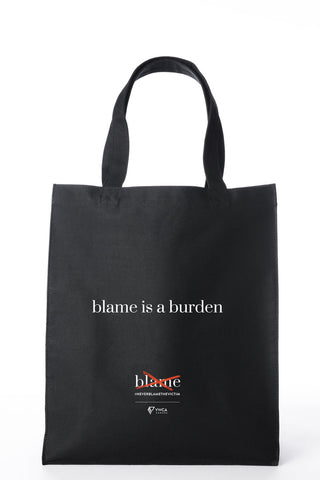#NeverBlametheVictim Tote Bag