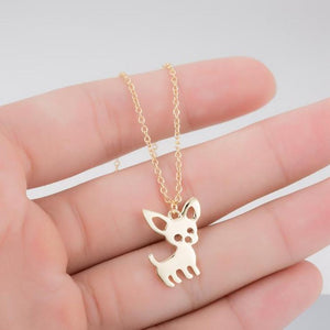 chihuahua necklace gemcreature