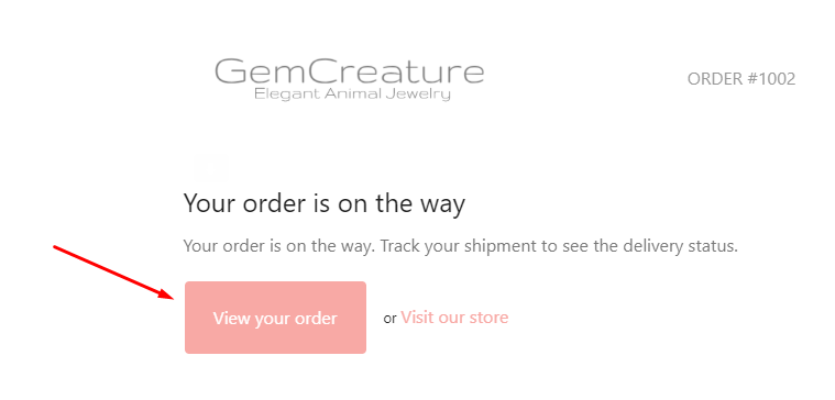 view your order gemcreature