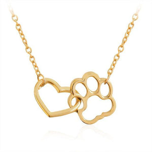 paw heart dog necklace geemcreature