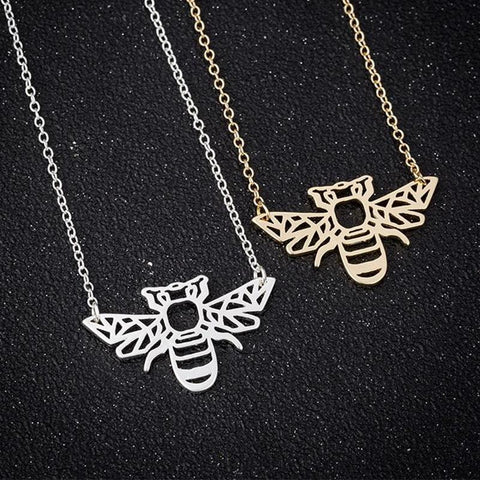 Elegant Bumble Bee Necklace unique jewelry design GemCreature