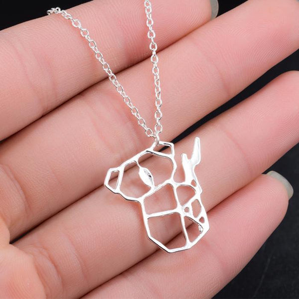 Geometric Koala Bear Necklace unique jewelry design GemCreature