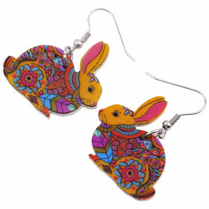 Colorful Rabbit Earrings