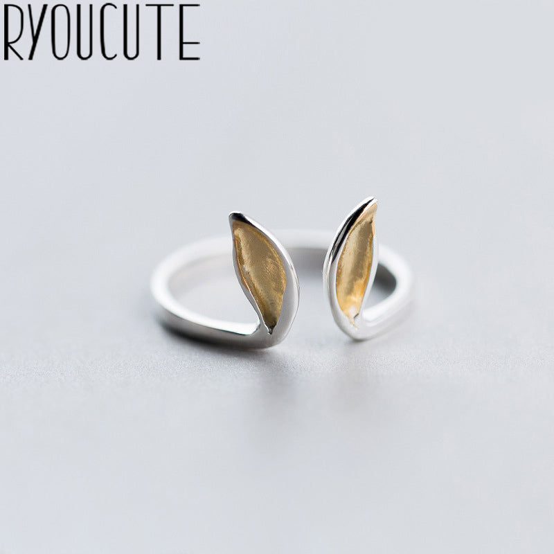 Silver Rabbit Ear Ring
