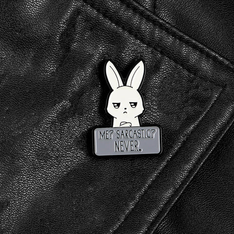 Rabbit Cartoon Pin