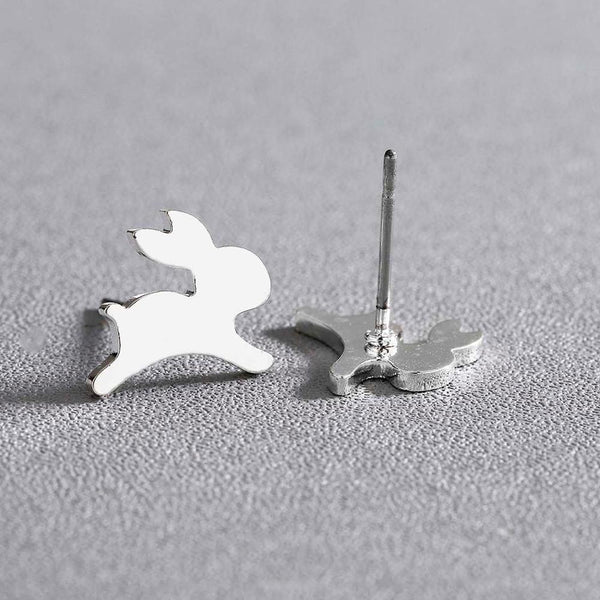 Tiny Rabbit Stud Earrings