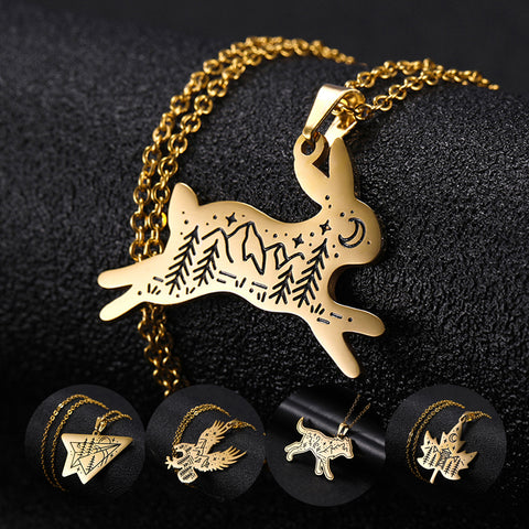Gold Creature Necklace