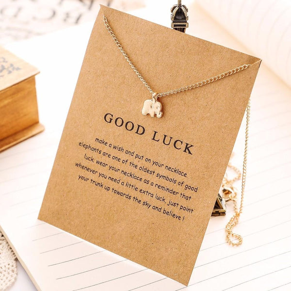 Elegant Gold Lucky Elephant Necklace unique jewelry design GemCreature
