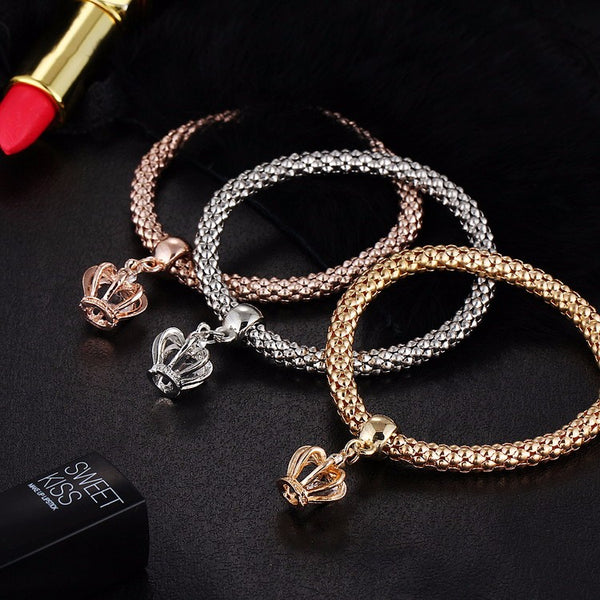 3 Pcs Set Crystal Metal Charm Bracelets unique jewelry design GemCreature