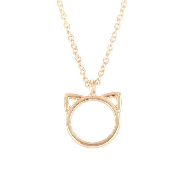 Elegant Cat Ears necklace unique jewelry design GemCreature