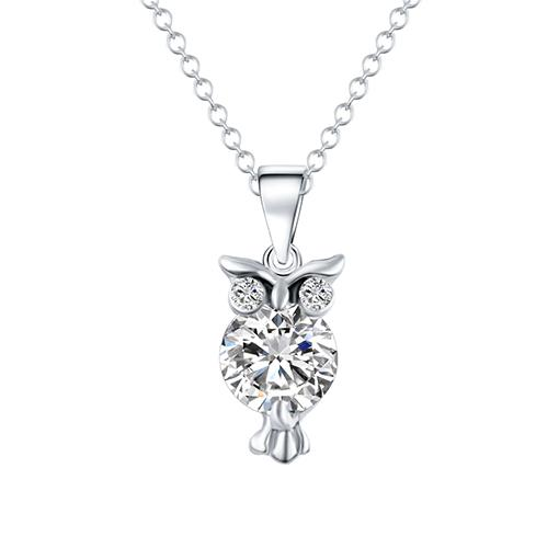 Crystal Owl Necklace unique jewelry design GemCreature
