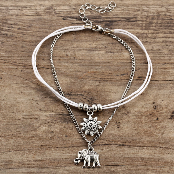 Vintage Elephant Ankle Bracelet unique jewelry design GemCreature