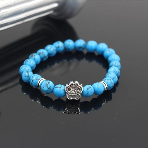 Natural Stone Dog Paw Bracelet unique jewelry design GemCreature