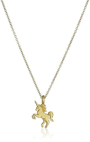 Magical Gold Unicorn Necklace unique jewelry design GemCreature
