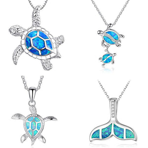 Opal Sea Turtle And Bonus Necklaces unique jewelry design GemCreature