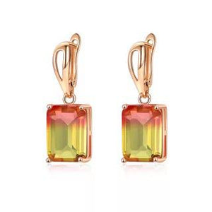 Ombre Gemstone Earrings in Citrine Sunset