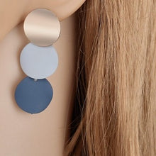 Load image into Gallery viewer, Trigonometry Disc Drop Earrings
