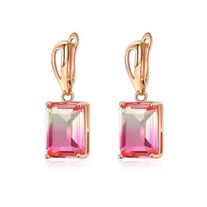 Ombre Gemstone Earrings in Pink Horizon