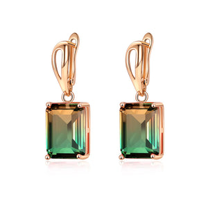 Ombre Gemstone Earrings in Eden Spring