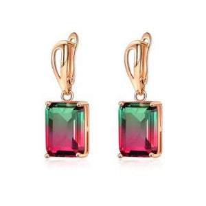 Ombre Gemstone Earrings in Watermelon Love