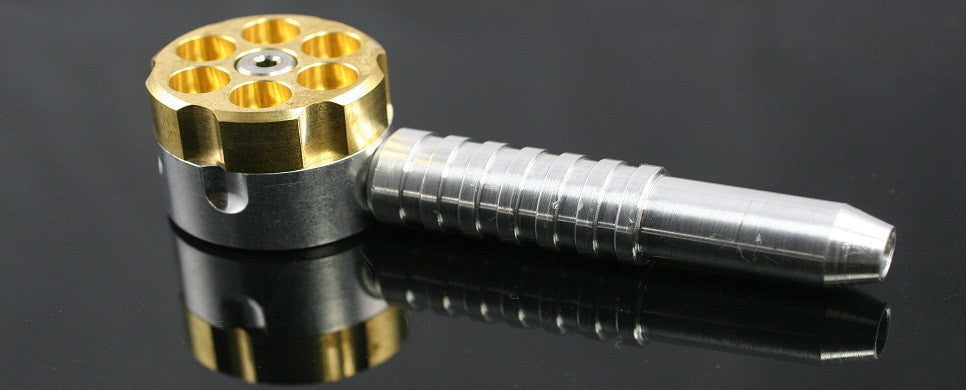Six Shooter Revolver Pipe