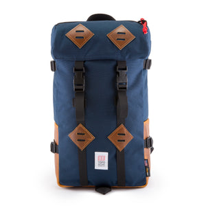 Topo Designs Klettersack in Navy/Brown Leather