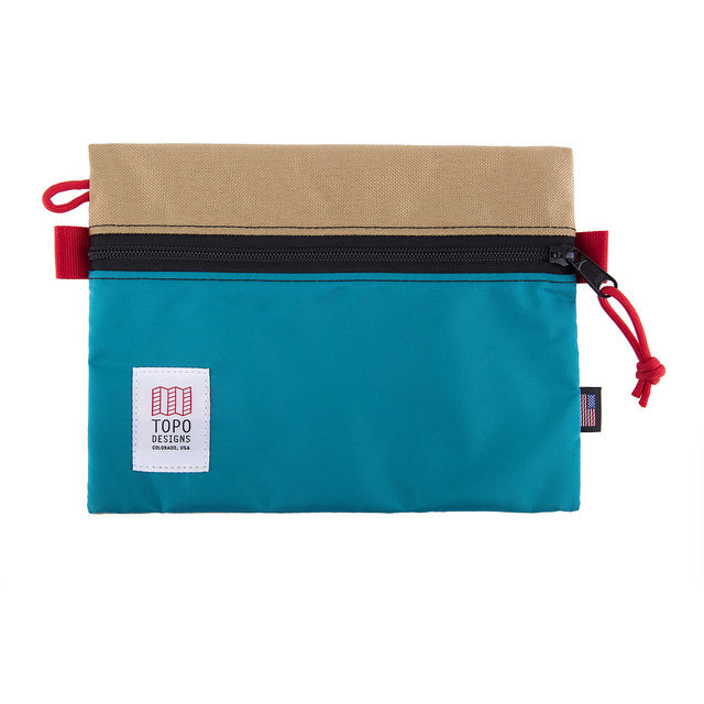 Topo Designs Medium Accessory Organizer Bag in Khaki/Aqua