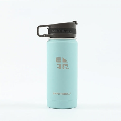 12oz Earthwell® Roaster Cap Vacuum Bottle- Aqua Blue