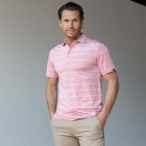 OXFORD ALBRIGHT COOLMAX HEATHER STRIPE JERSEY POLO