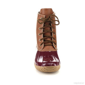 Dylan Duck Boots- Burgundy
